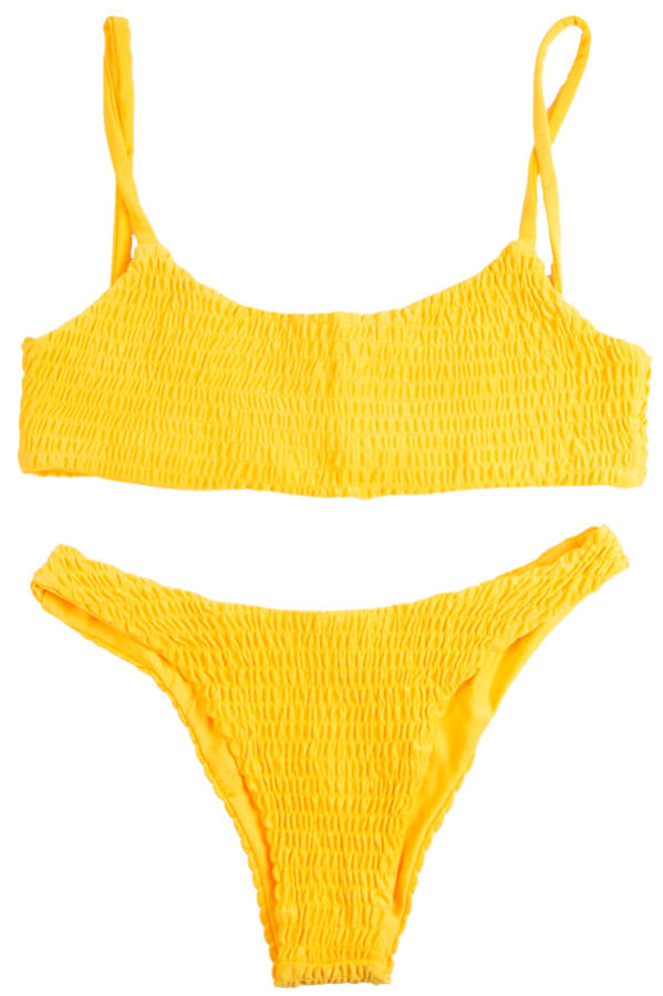 Maori yellow bikini set is definitely a must have!